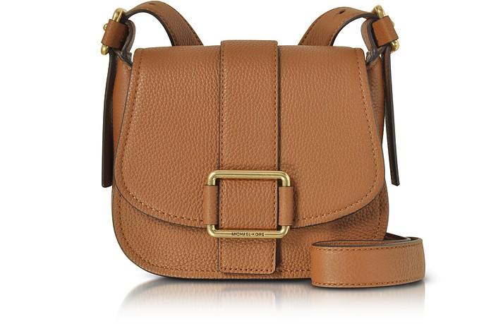 2b112bad40fcb Michael Kors Luggage Maxine Medium Leather Saddle Bag at FORZIERI