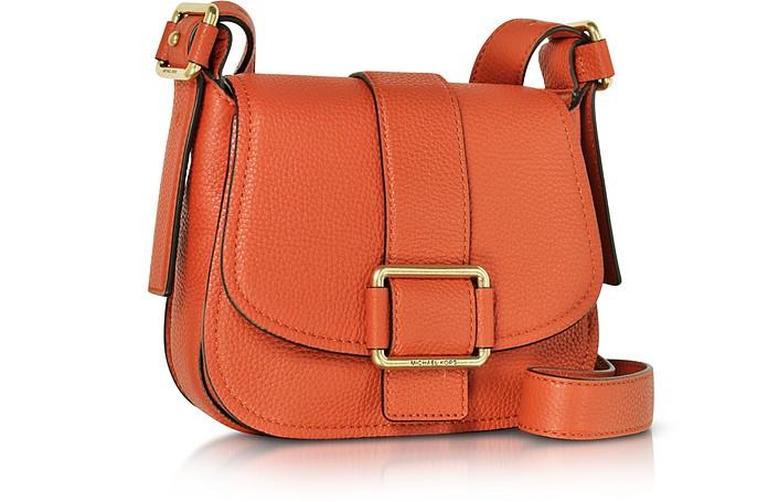 649e34220c29 Michael Kors Orange Maxine Medium Leather Saddle Bag at FORZIERI