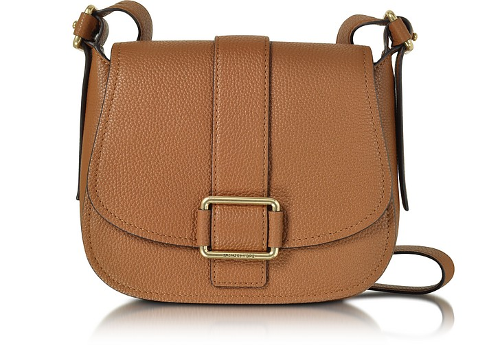 Maxine Large Luggage Leather Saddle Bag - Michael Kors