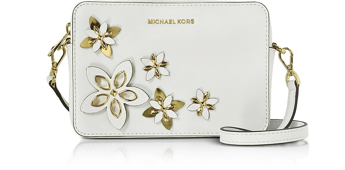 Flowers Optic White Pouches Medium Camera Bag - Michael Kors