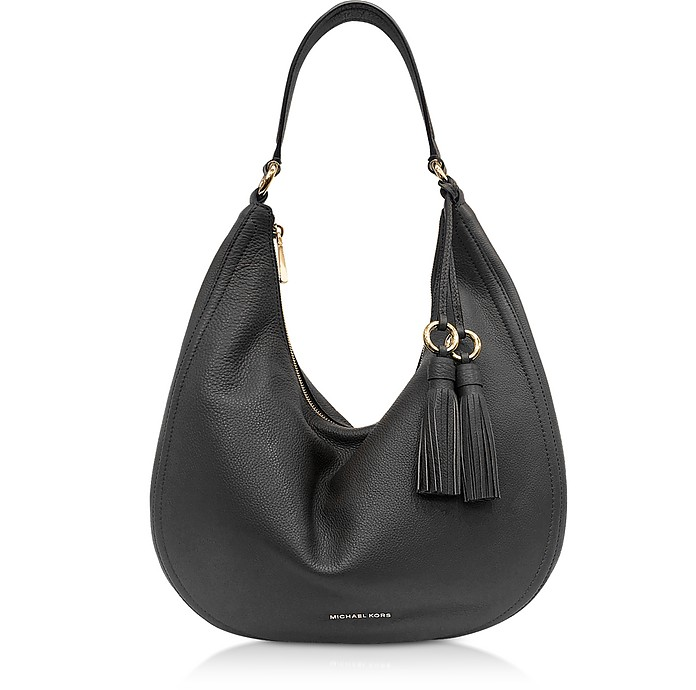 57692f467deec Michael Kors Lydia Black Pebbled Leather Hobo Bag at FORZIERI Australia