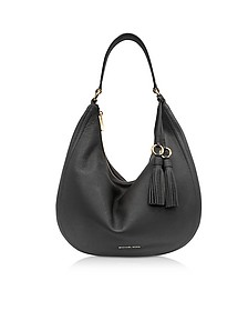 Lydia Black Pebbled Leather Hobo Bag - Michael Kors