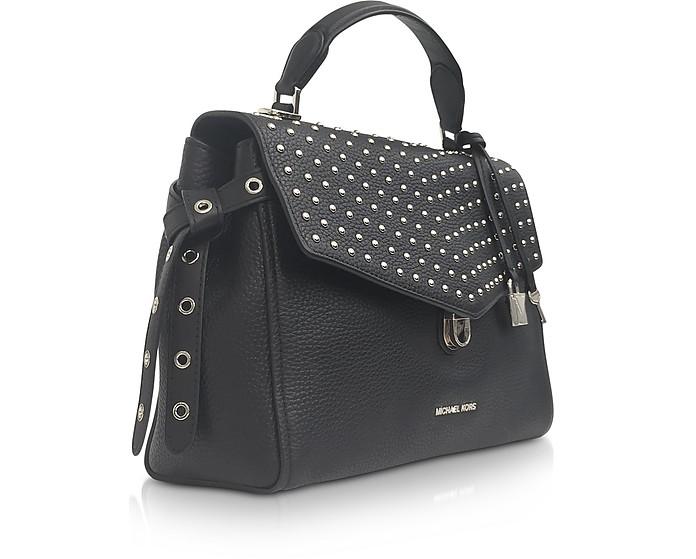 1f4f0161d3d058 Bristol Black Studded Leather Top Handle Satchel Bag - Michael Kors. Sold  Out