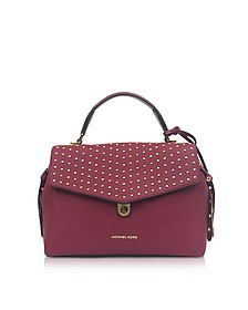 Bristol Mulberry Studded Leather Top Handle Satchel Bag - Michael Kors