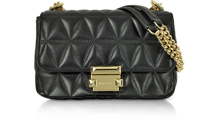 Sloan Small Black Quilted Leather Shoulder Bag - Michael Kors