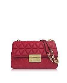 Bright Red Sloan Large Quilted-Leather Shoulder Bag - Michael Kors