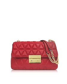 Bright Red Sloan Large Quilted-Leather Shoulder Bag - Michael Kors