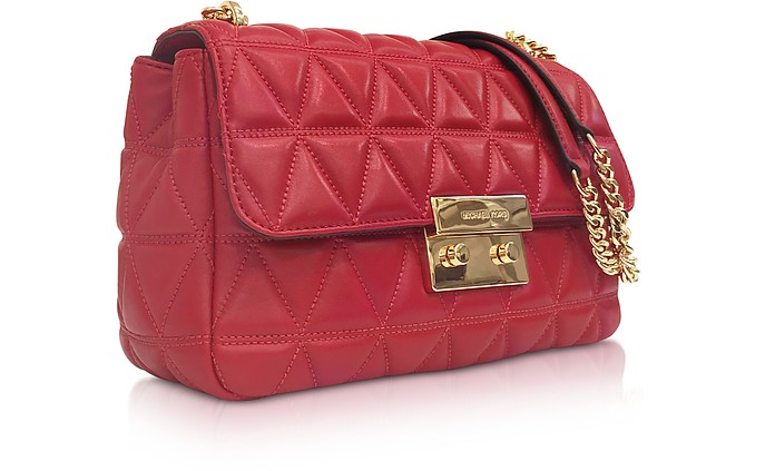 5eee1fbb0adb3 Facebook · Twitter · Pinterest · Share on Tumblr. Bright Red Sloan Large  Quilted-Leather Shoulder Bag - Michael Kors