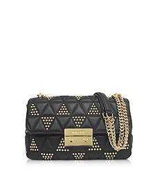 Sloan Large Studded Leather Shoulder Bag - Michael Kors