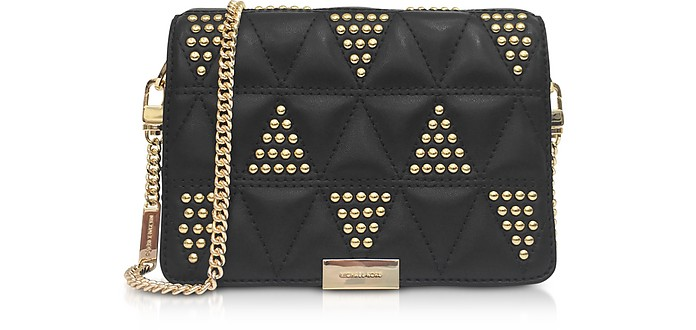 Jade Studded Quilted-Leather Clutch - Michael Kors