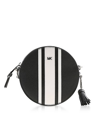 3270a81290a3 Black & Optic White Medium Canteen Crossbody Bag - Michael Kors