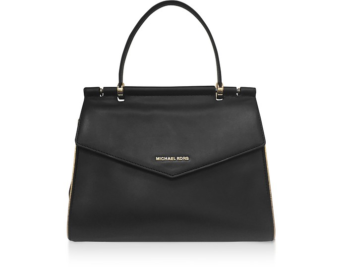 Black Jasmine Medium Top-Handle Satchel Bag - Michael Kors