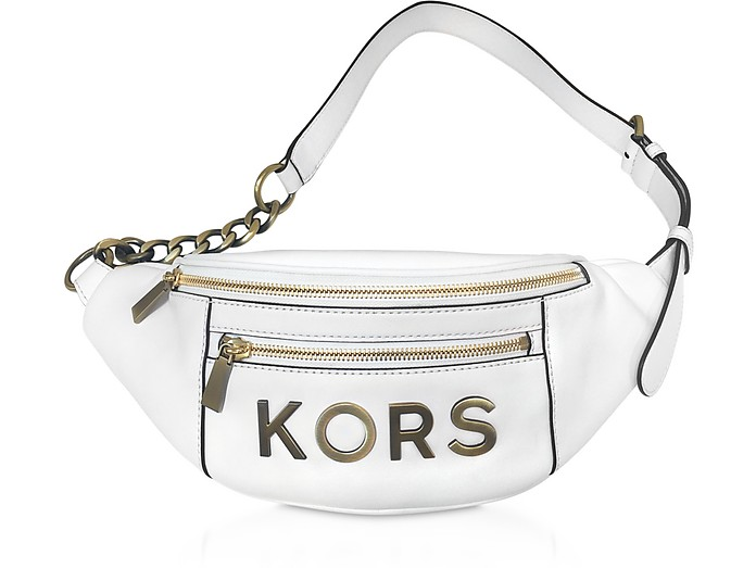 Optic White Kors Medium Belt Bag - Michael Kors