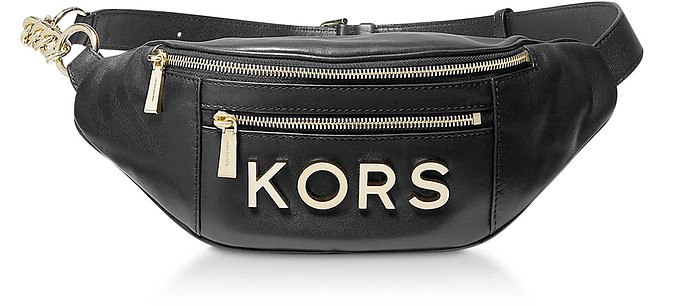 Black Kors Medium Belt Bag - Michael Kors