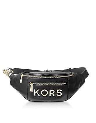 a3f2303bc095 Black Kors Medium Belt Bag - Michael Kors
