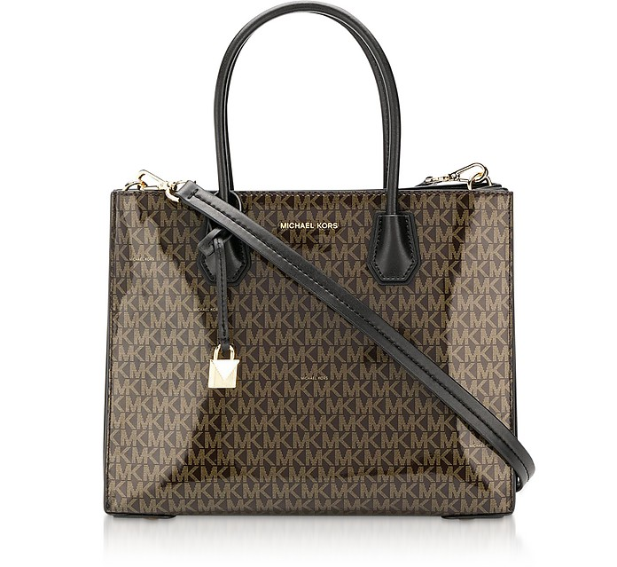 Monogram Mercer Large Convertible Tote Bag - Michael Kors