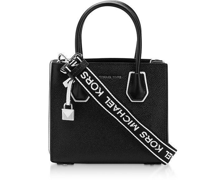 Black & White Mercer Medium Messenger Bag - Michael Kors