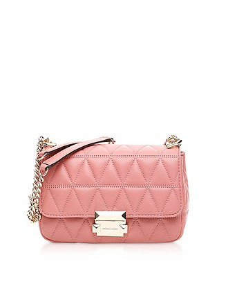 e3f5aeba3b30cf Sloan Small Quilted-Leather Shoulder Bag - Michael Kors