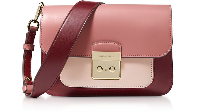 Sloan Editor Large Oxblood Multi Leather Shoulder Bag - Michael Kors / マイケル コース