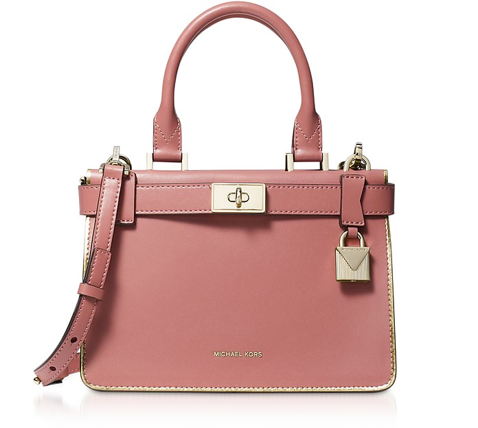 Rose Leather Tatiana Mini Satchel Bag - Michael Kors