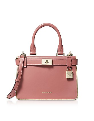 0528c0802bf30 Rose Leather Tatiana Mini Satchel Bag - Michael Kors