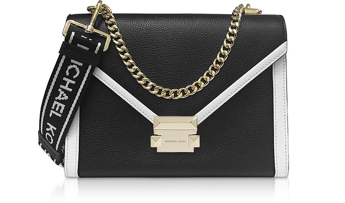 Black & White Whitney Large Shoulder Bag - Michael Kors
