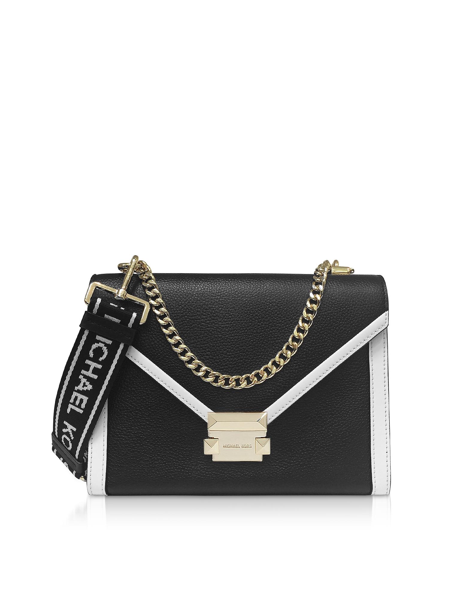 Medium Color block Logo Messenger Bag | Michael Kors