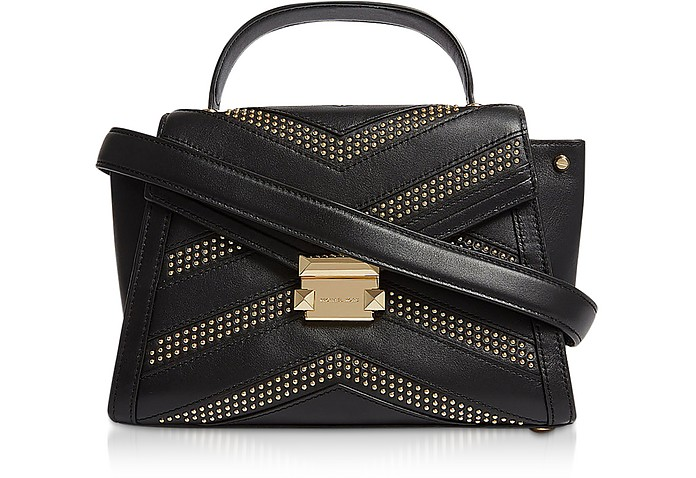Whitney Medium Studded Top-Handle Satchel Bag - Michael Kors