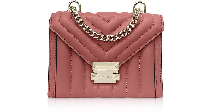 Whitney Small Rose Quilted Leather Convertible Shoulder Bag - Michael Kors