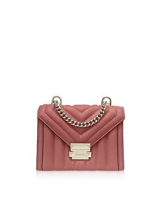 e1842d7d18b8 Whitney Small Rose Quilted Leather Convertible Shoulder Bag - Michael Kors