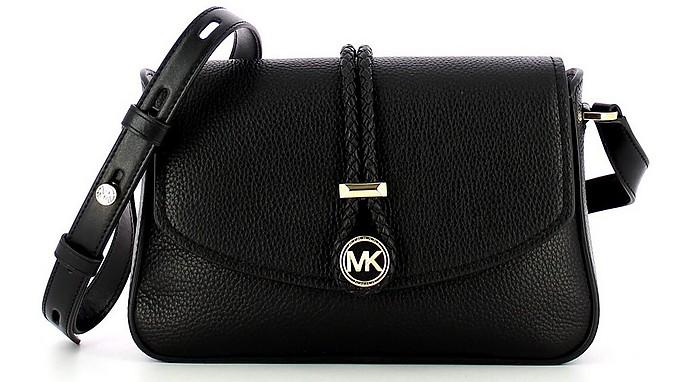 Black Lea Medium Flap Messenger Bag - Michael Kors