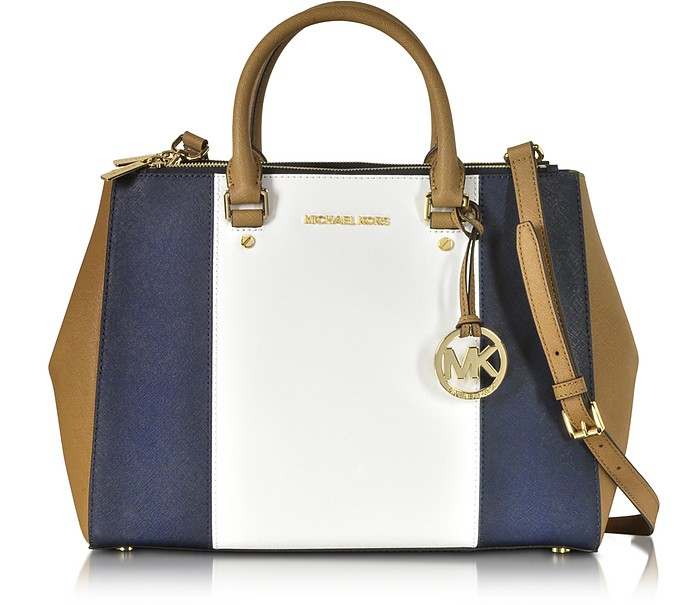Sutton Large Color-Block Leather Satchel - Michael Kors