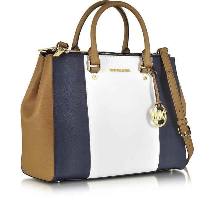 e719d5129dc9ec Sutton Large Color-Block Leather Satchel - Michael Kors. kr 3,209 Actual  transaction amount