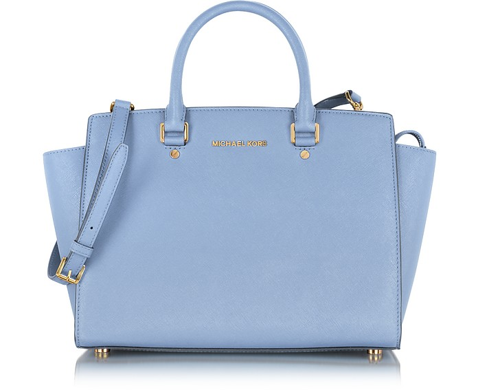 Large Selma Top-Zip Saffiano Leather Satchel - Michael Kors
