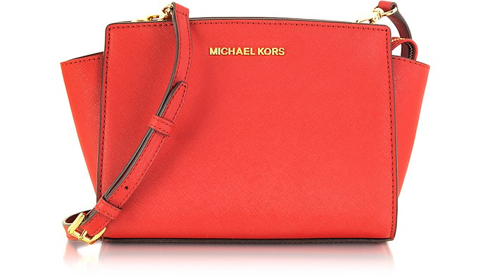 Selma Medium Coral Reef Saffiano Leather Messenger Bag - Michael Kors