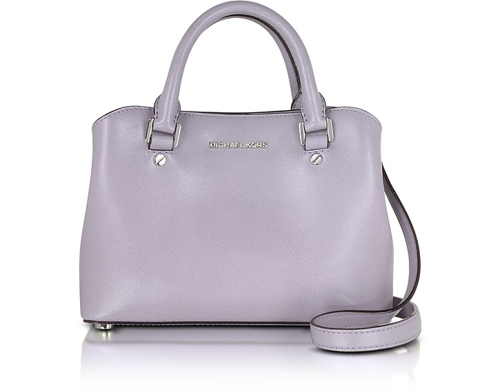 ac8af17073 Michael Kors Savannah Small Lilac Saffiano Leather Satchel Bag at ...