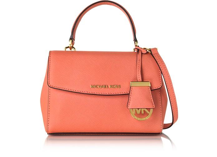f5e74c58b7ee Michael Kors Pink Grapefruit Ava Extra Small Saffiano Leather ...