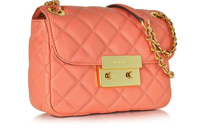 a06c687a8361 Sloan Pink Grapefruit Quilted Leather Small Chain Shoulder Bag - Michael  Kors.  160.80  268.00 Actual transaction amount