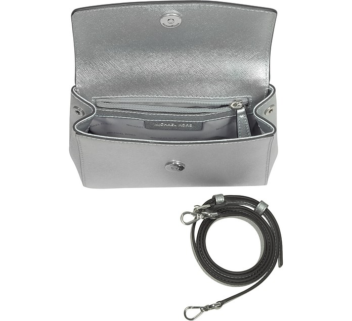 78caed6b3562 Ava Silver Saffiano Leather XS Crossbody Bag - Michael Kors. €122,50  €175,00 Actual transaction amount