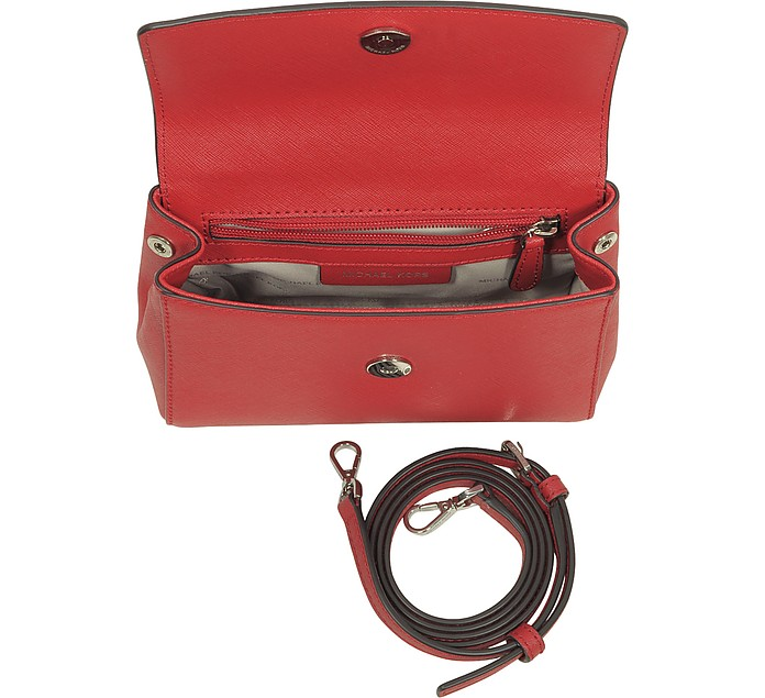 b38542d06bcd Ava Bright Red Saffiano Leather XS Crossbody Bag - Michael Kors. $178.00  Actual transaction amount
