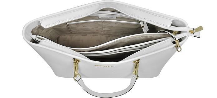 Michael Kors optic white Jet Set Travel Small Saffiano