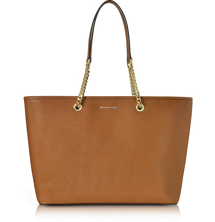 Jet Set Travel Chain Medium Luggage T/Z Saffiano Leather Multifunction Tote - Michael Kors