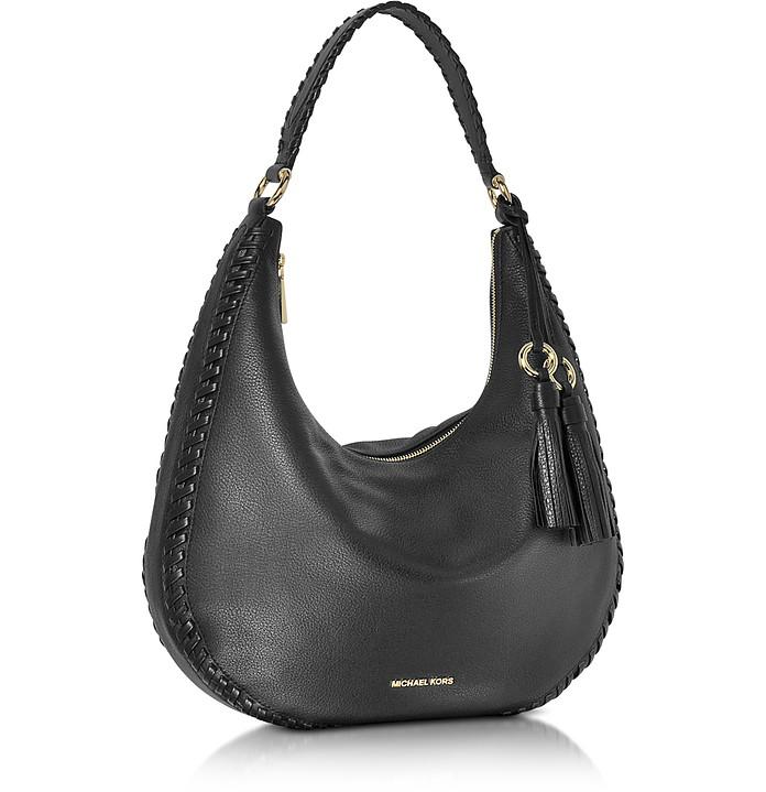 a5a8e8377b62d Lauryn Large Black Pebble Leather Shoulder Bag - Michael Kors. Sold Out