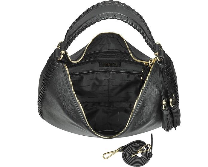 08af99ef45 Lauryn Large Black Pebble Leather Shoulder Bag - Michael Kors.  248.50   355.00 Actual transaction amount
