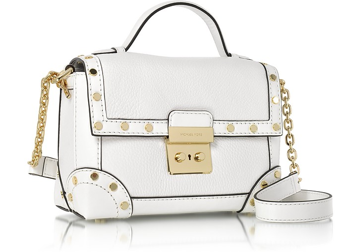 19acb8a5771c Cori Optic White Pebble Leather Small Trunk Bag w/Studs - Michael Kors.  $227.50 $325.00 Actual transaction amount