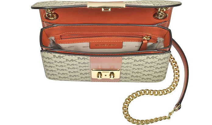 ba8dfde6a6b Sloan Editor Medium Center Stripe and Heritage Signature Chain Shoulder Bag  - Michael Kors.  159.00  318.00 Actual transaction amount