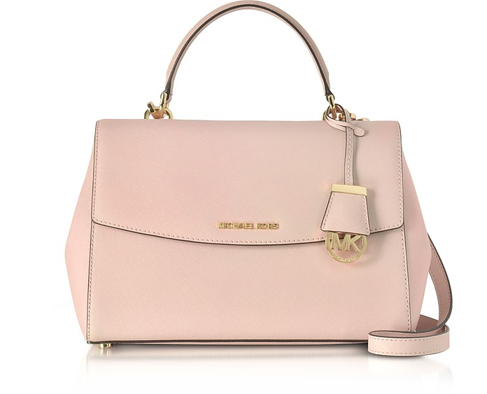 Ava Medium Soft Pink Saffiano Top Handle Satchel - Michael Kors