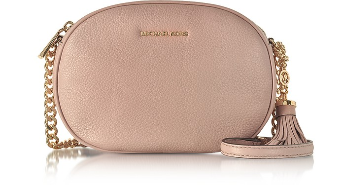 Ginny Fawn Pebble Leather Medium Messenger - Michael Kors