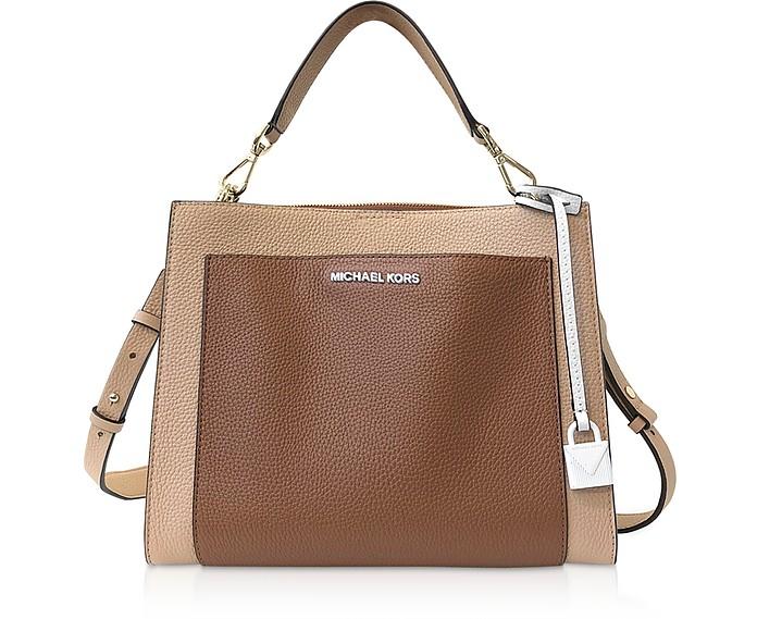 Gemma Medium Pocket Top-Handle Satchel Bag - Michael Kors