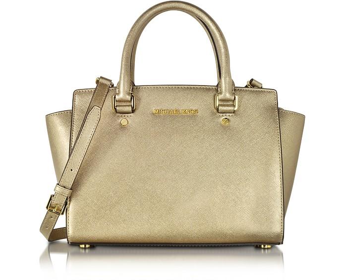 Selma Saffiano Leather Medium Satchel Bag - Michael Kors